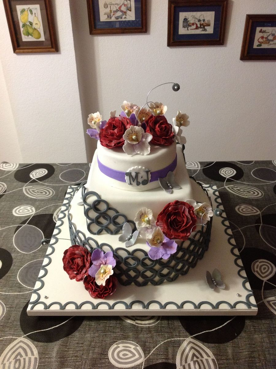 My Mom's Wedding Cake!!!... on Cake Central
