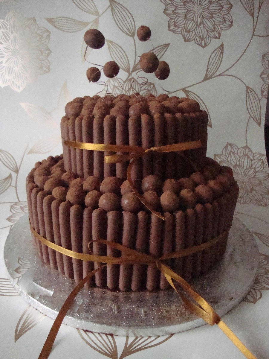 Tiered Chocolate Malteser Cake Cakecentral Com