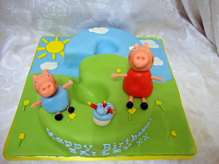 Peppa Pig And George Pig Number 3 Cake on Cake Central