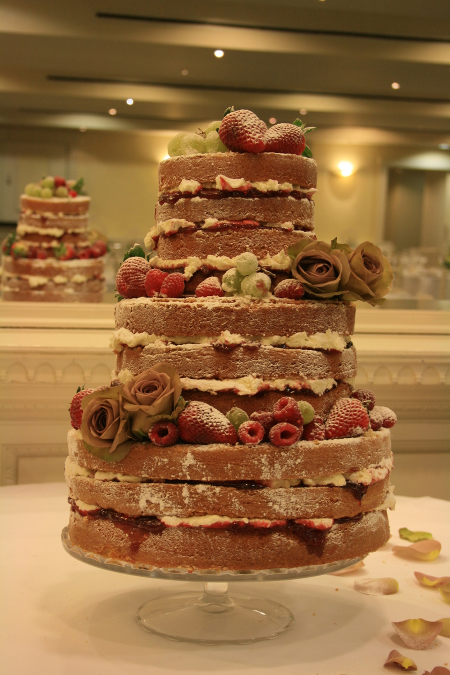 My First Naked Wedding Cake on Cake Central