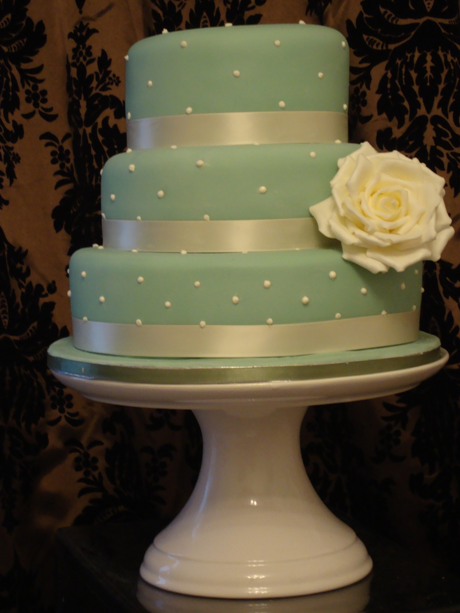 Pearl Wedding Cake Sage Green on Cake Central