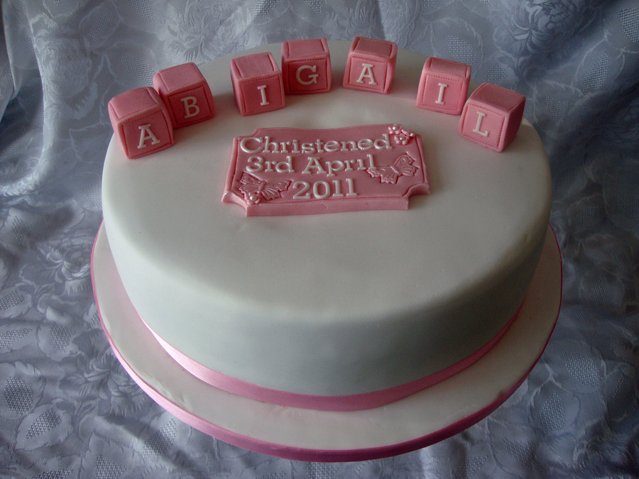 Christening/baptism Cake on Cake Central
