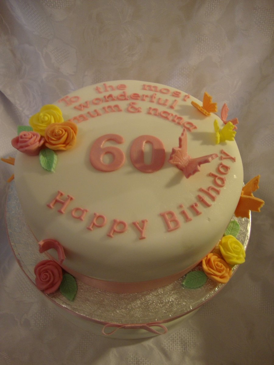 60Th Birthday Cake on Cake Central