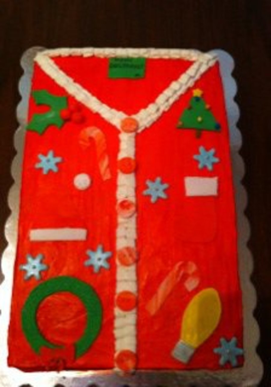 Ugly Christmas Sweater!!! on Cake Central