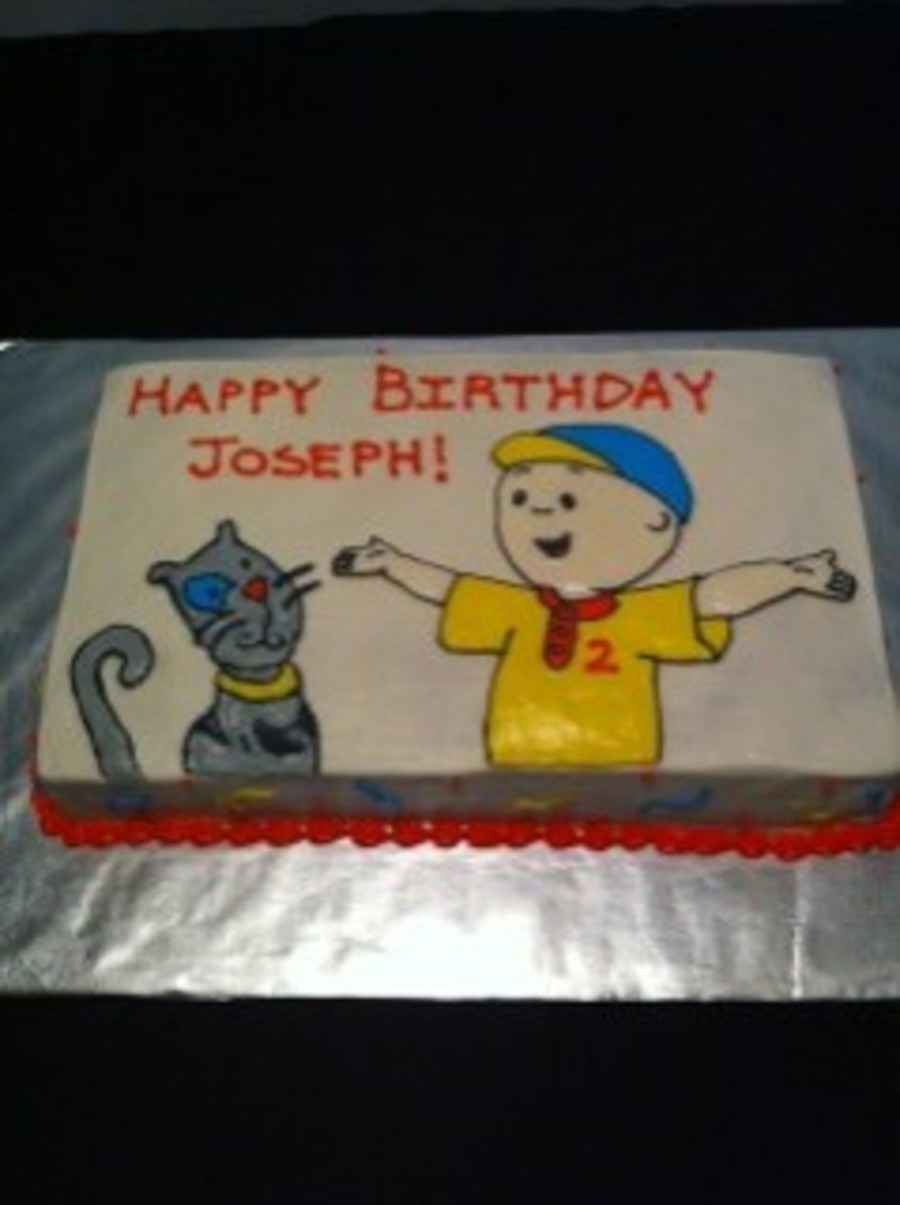 Caillou on Cake Central