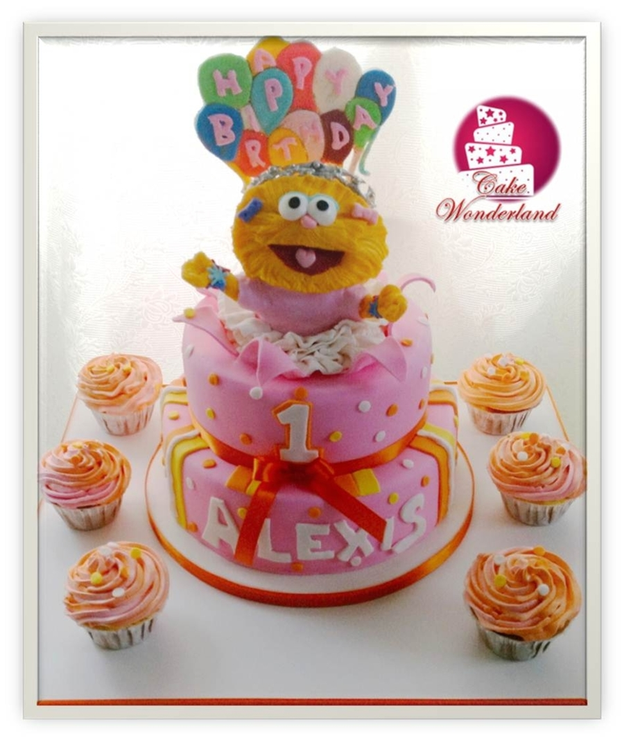 Zoe Sesame Street Cake - CakeCentral.com