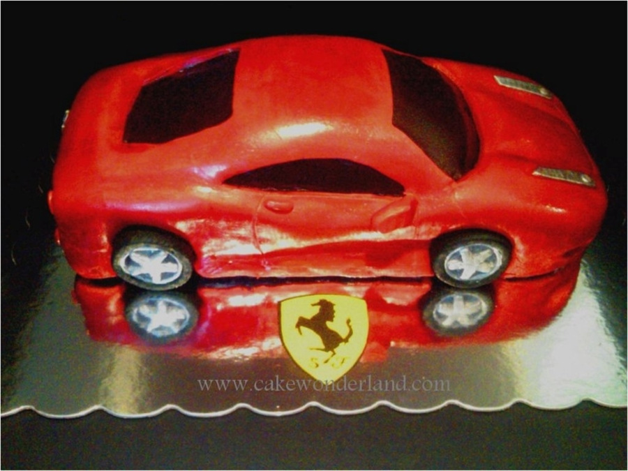 Ferrari Car on Cake Central