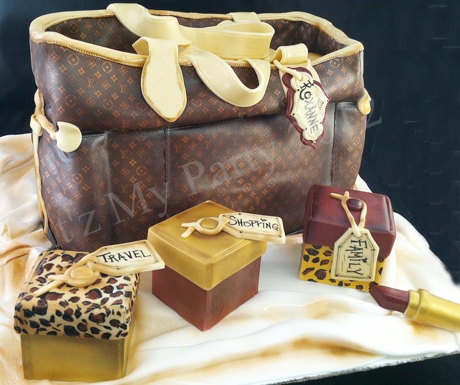 Louis Vouitton Purse Cake W/ Sugar Boxes on Cake Central