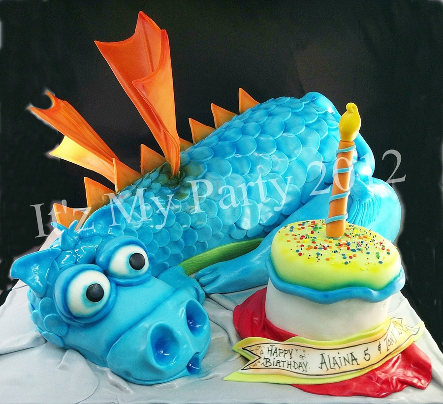 Dimensional Dragon Birthday Cake on Cake Central