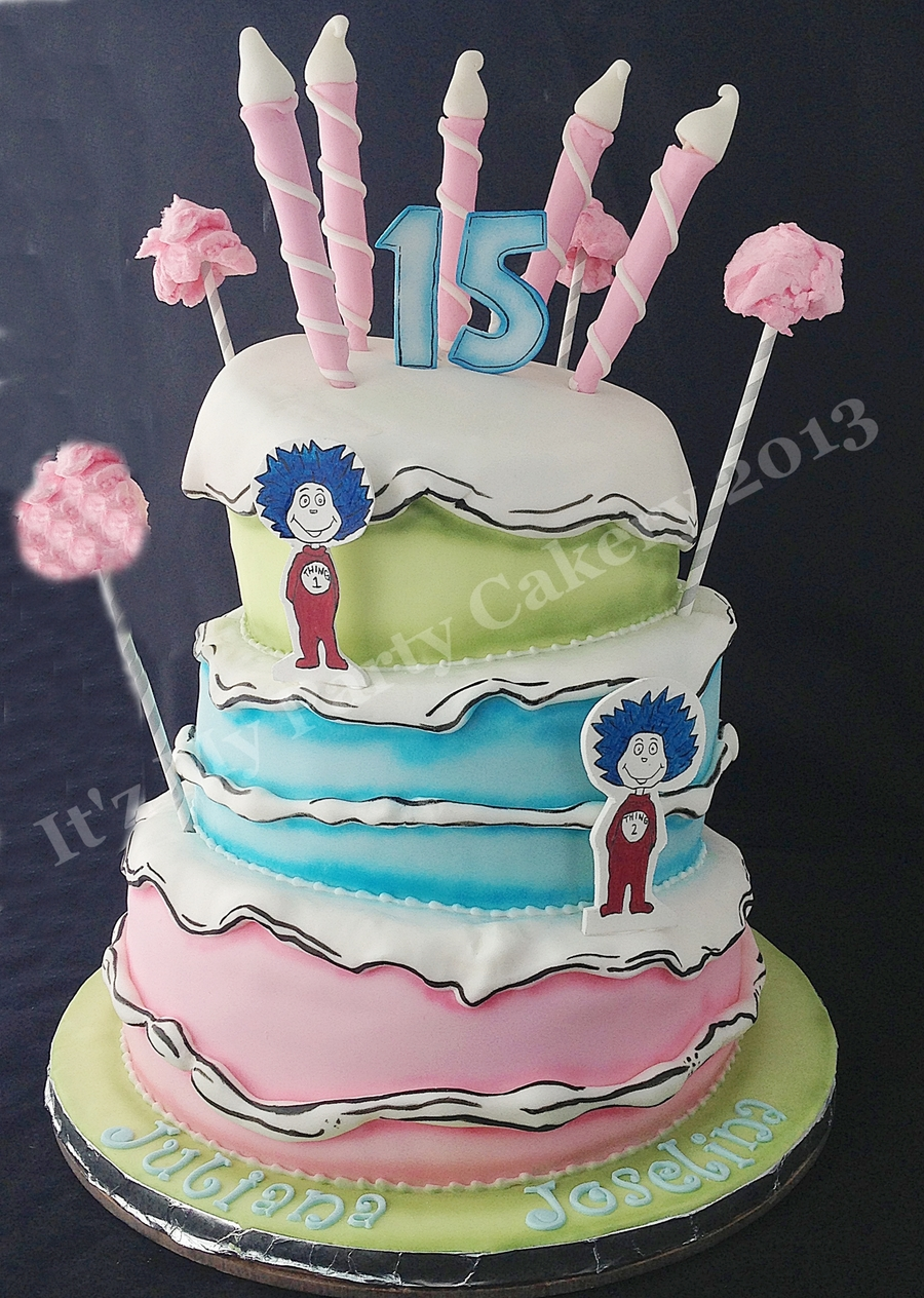 Dr Suess Topsy Turvey on Cake Central
