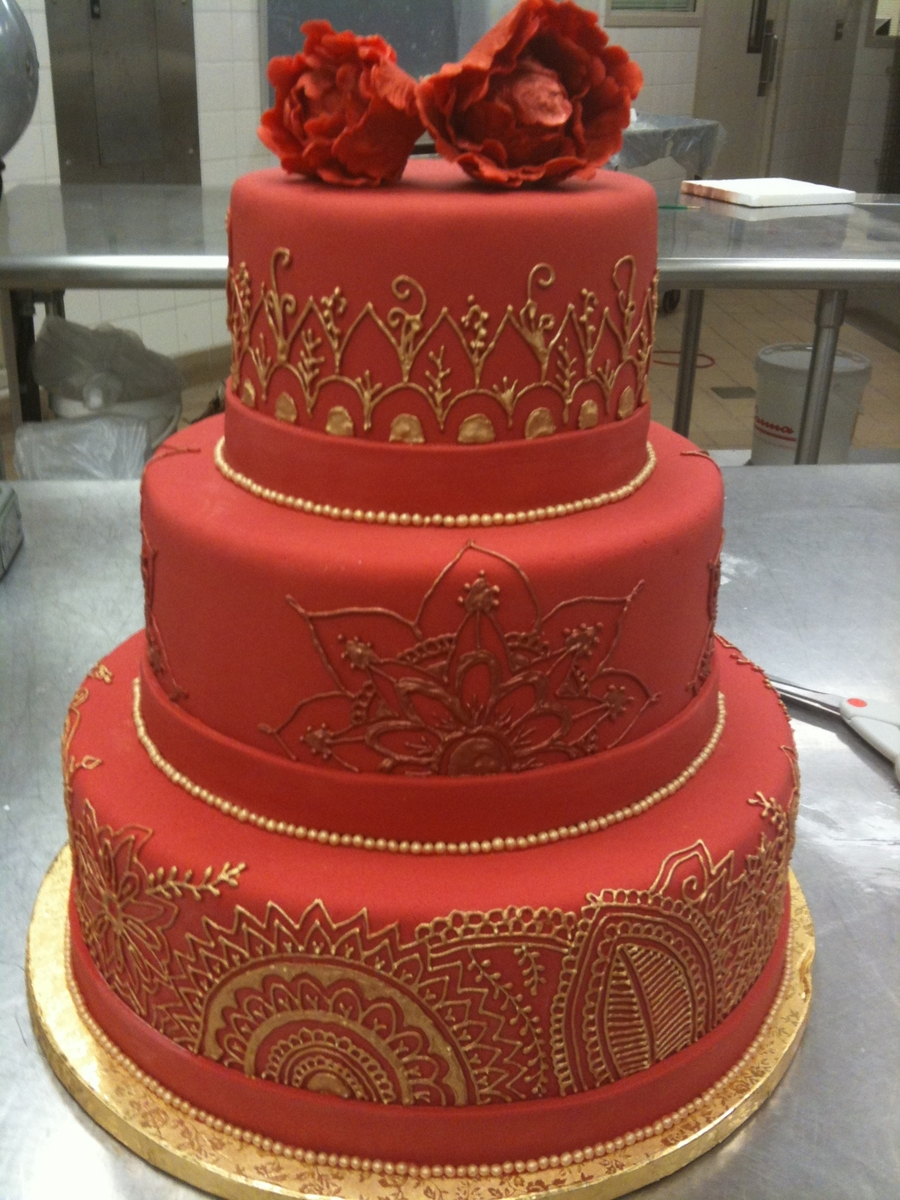 Henna Wedding Cake  on Cake Central