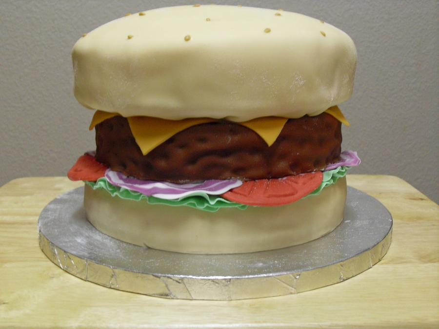 Cheeseburger on Cake Central