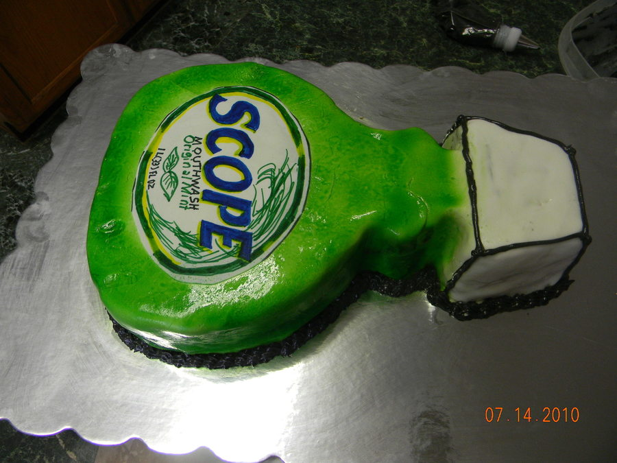 Bottle Of Scope on Cake Central