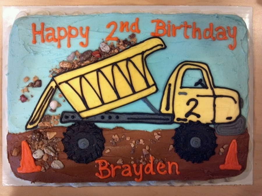 Dumptruck Birthday Cake on Cake Central