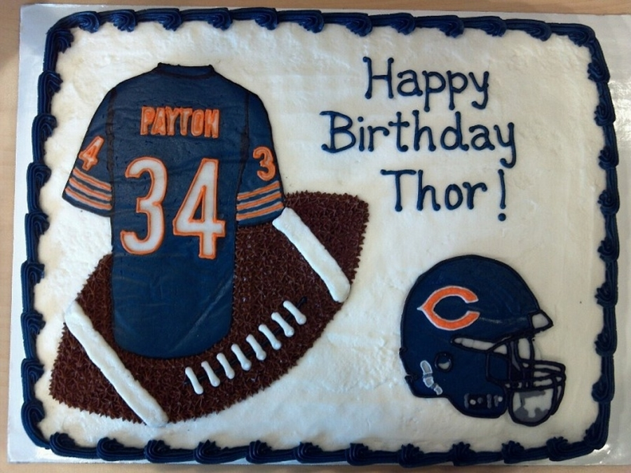 Marvelous Chicago Bears Birthday Cake Cakecentral Com Funny Birthday Cards Online Fluifree Goldxyz