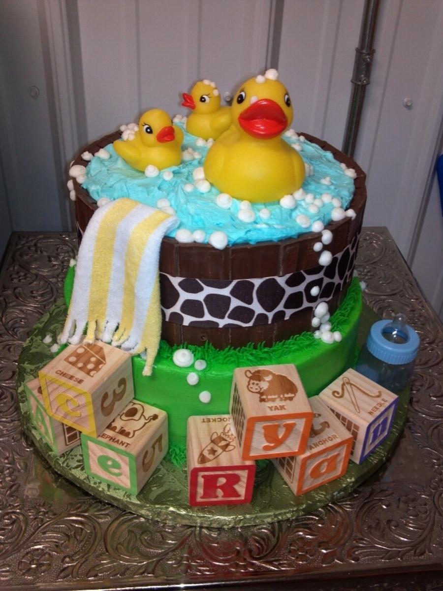 Rubber Ducky Baby Shower Cake on Cake Central