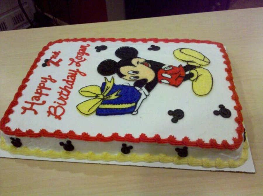 Mickey Mouse Sheet Cake Cakecentral