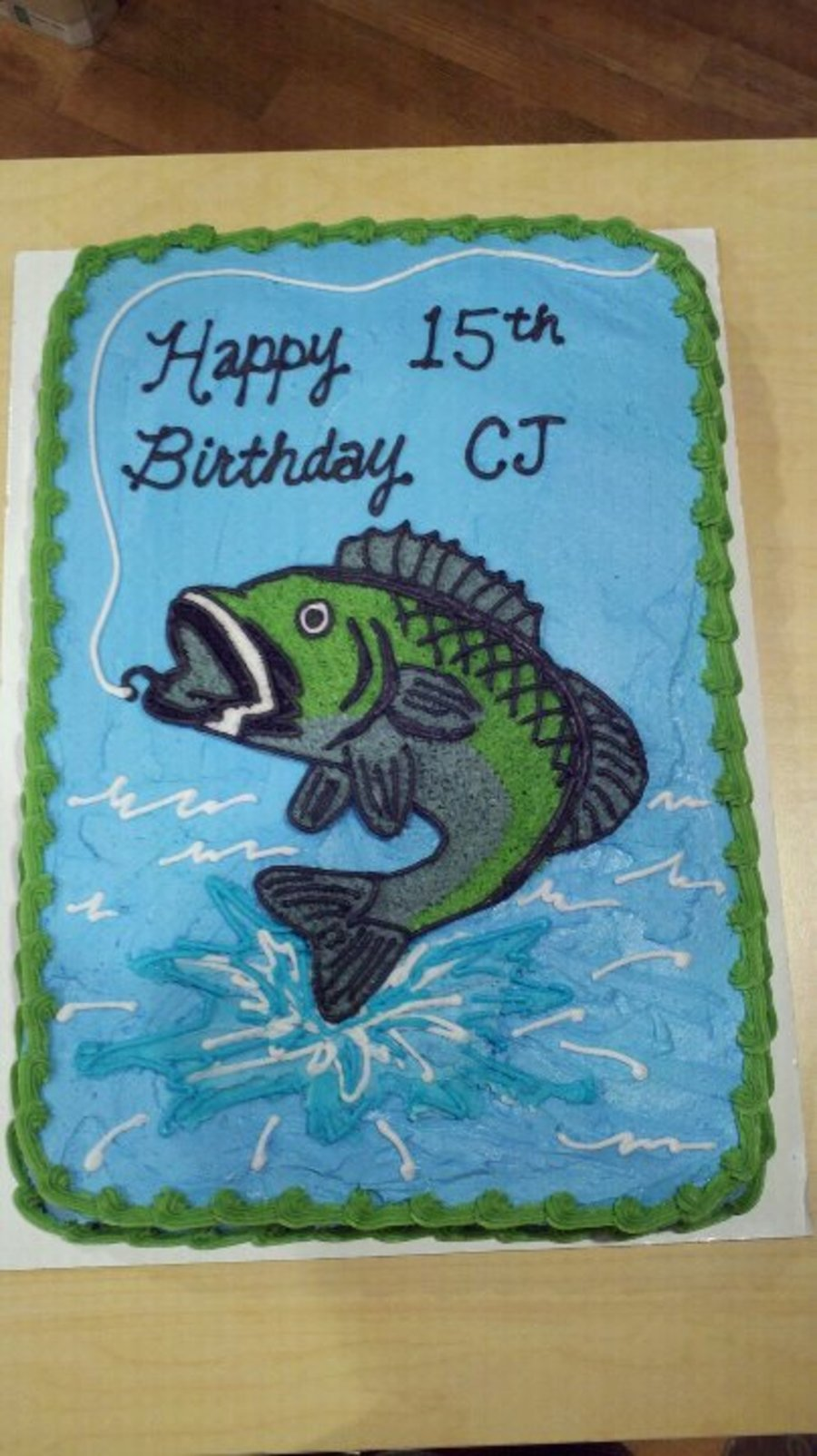 Bass Fish Birthday Cake