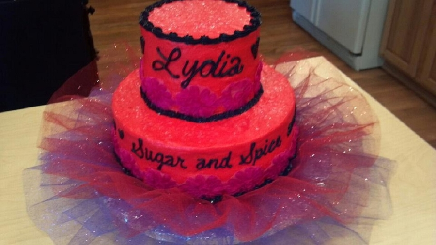 Sugar And Spice Baby Shower Cake on Cake Central