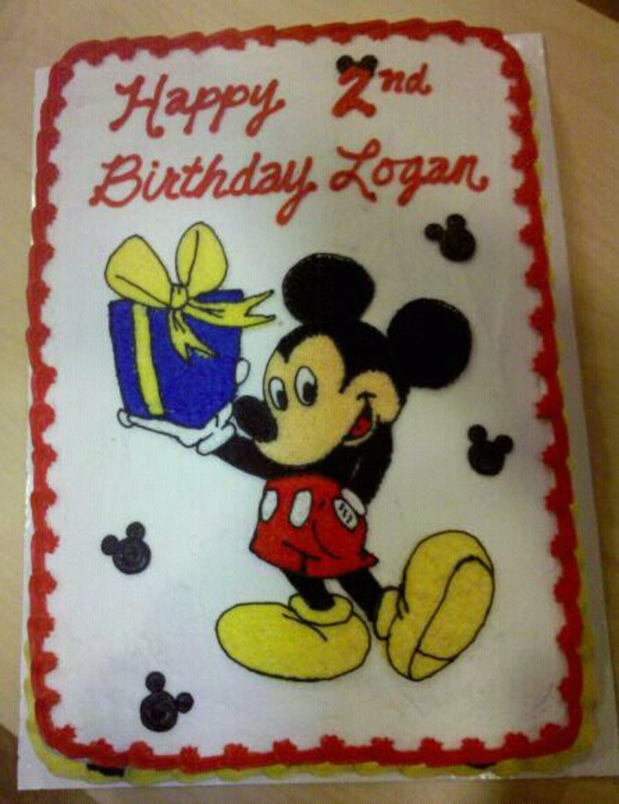 Mickey And Birthday Cake