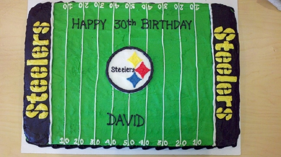 Steelers Football Sheet Cake on Cake Central
