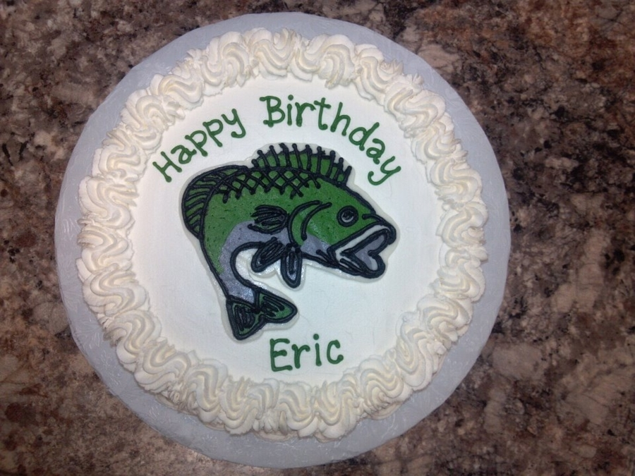 Birthday Cake With Bass Fish On It Central