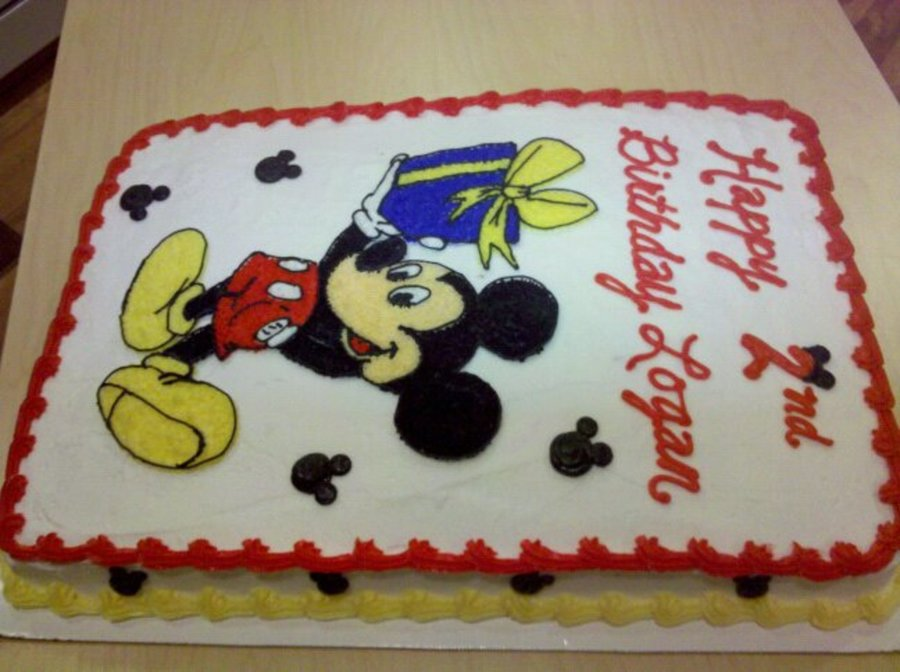 mickey mouse sheet cake mickey mouse sheet cake cakecentral 5887