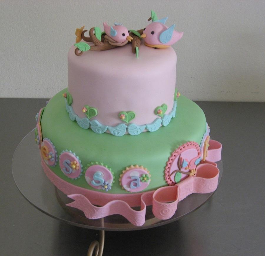 Pink Tweet Birds Baby Shower Cakecentral