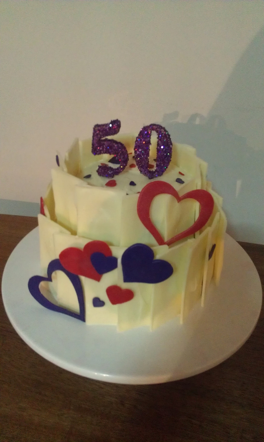50Th Chocolate Shard Cake on Cake Central