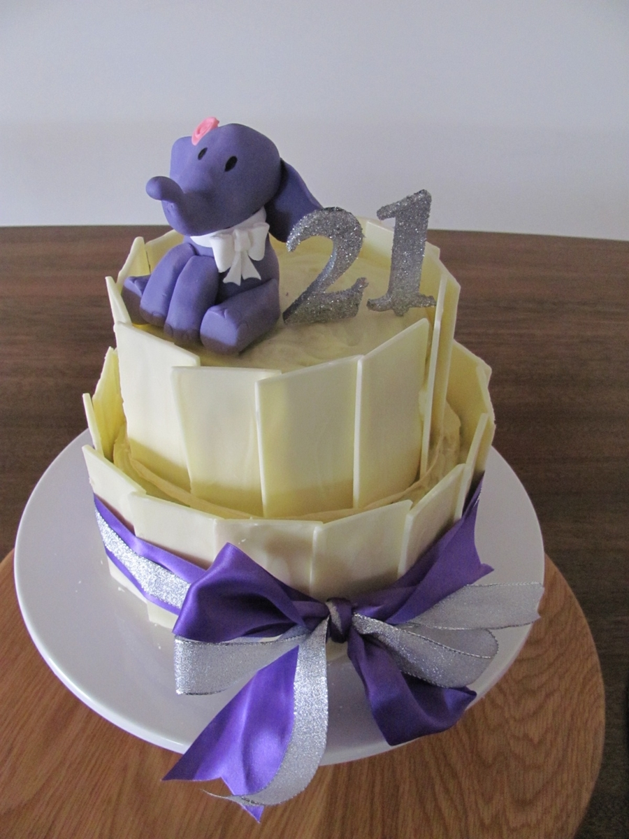 21St Elephant Lover Cake on Cake Central