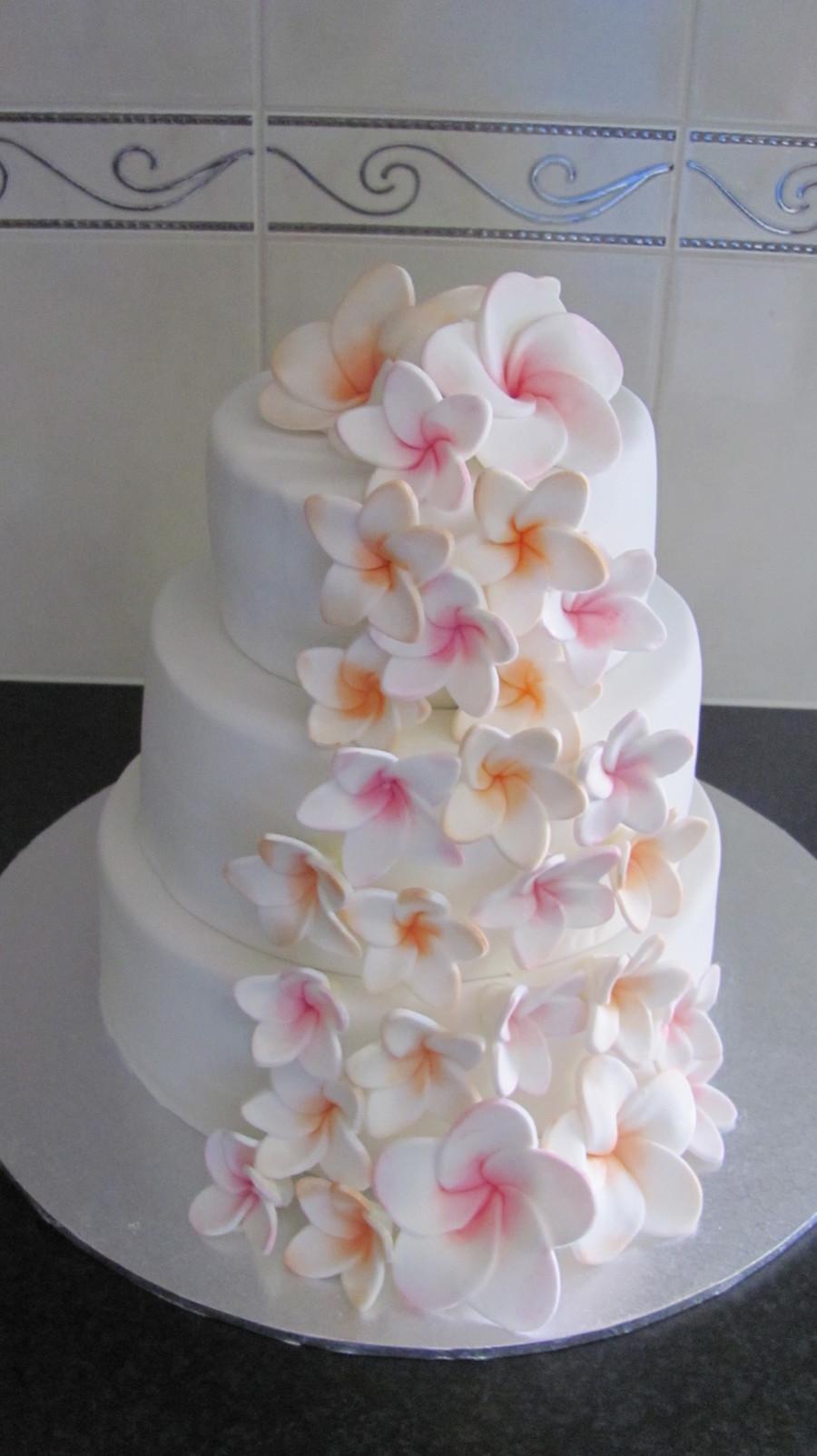 Plumeria Frangipani Wedding Cake Cakecentral Com