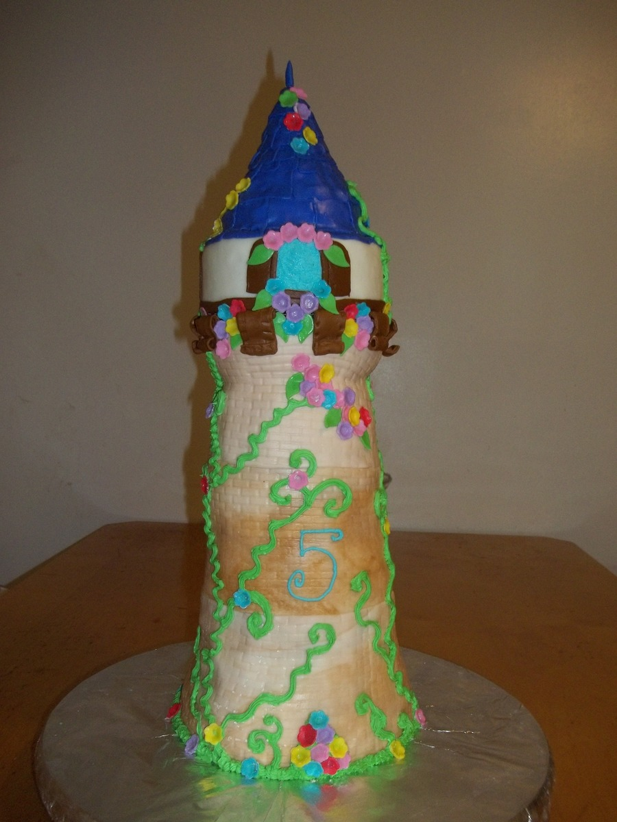 Rapunzel's Tower on Cake Central