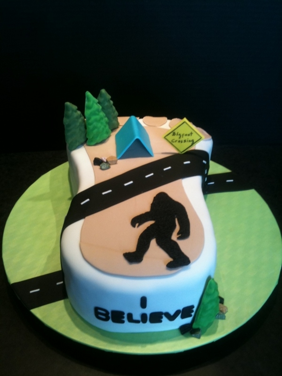 Bigfoot Cake Sasquatch Cakecentral Com