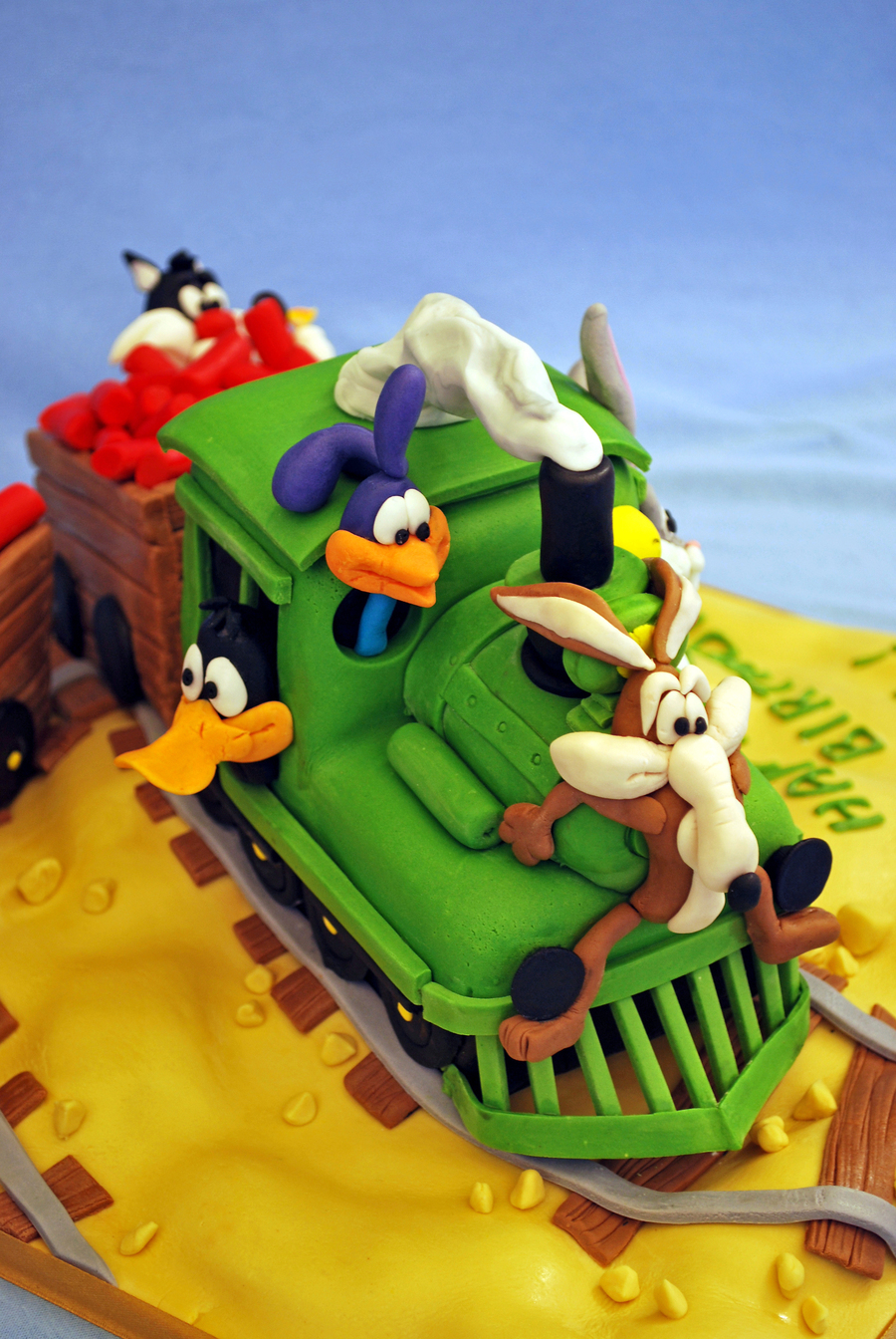 Looney Tunes Characters On A Train Journey From A Book