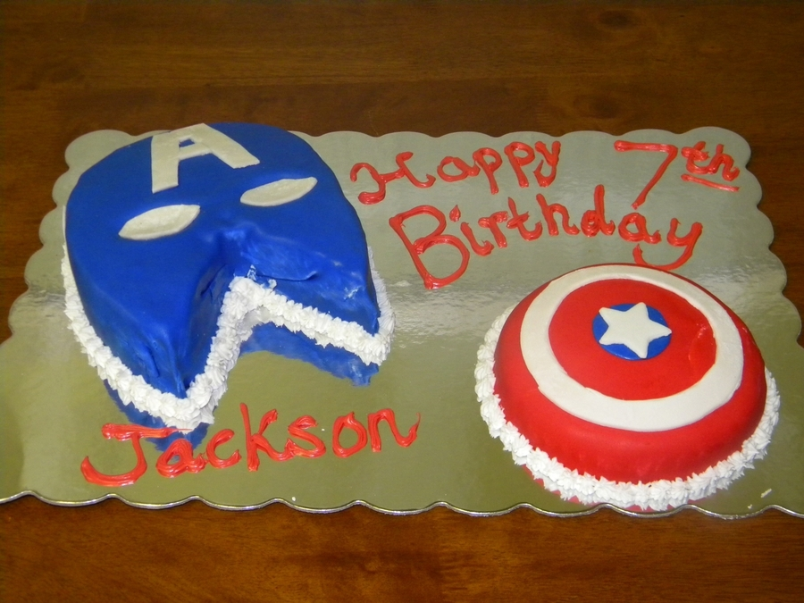 Captain America Birthday Cake  on Cake Central