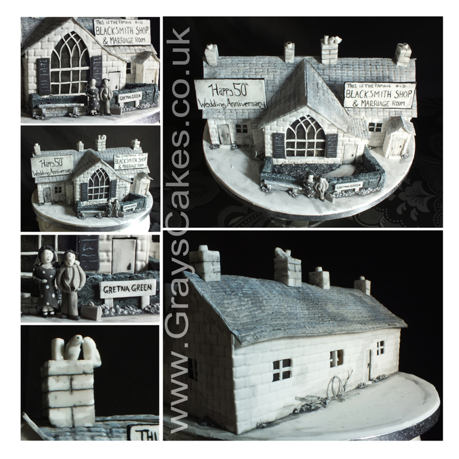 Gretna Green Wedding Anniversary Cake on Cake Central