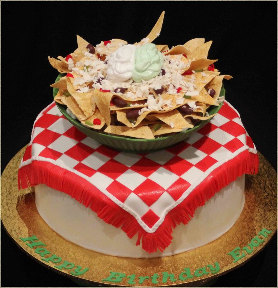Nachos Cake The Bowl Made From White Chocolate Nachos And ...