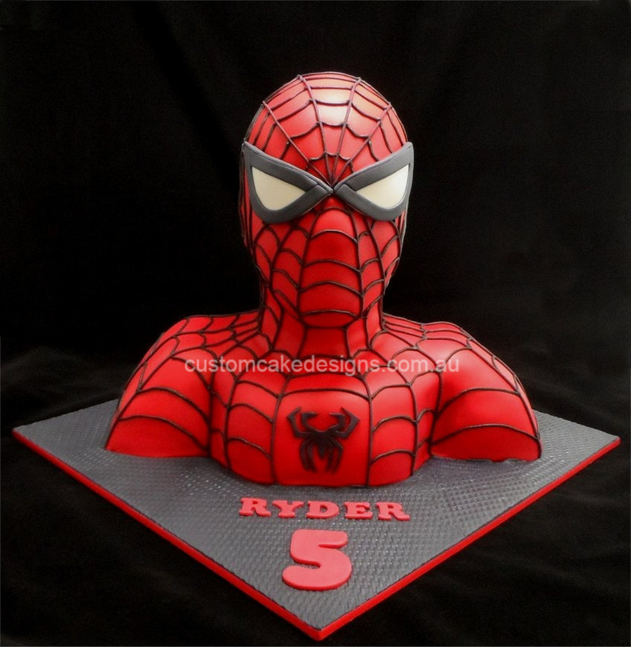 Life Sized Spiderman Torso on Cake Central