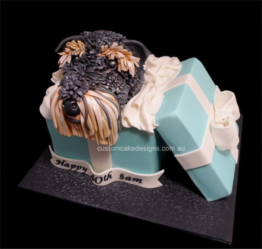 This Schnauzer Dog Birthday Cake Was Based On A Gorgeous Design From
