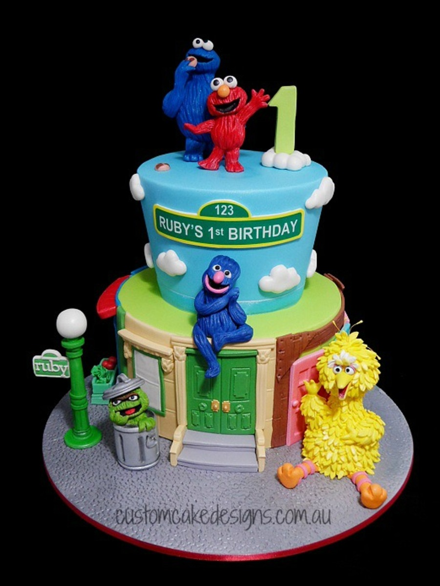 Sesame Street Sheet Cake Ideas