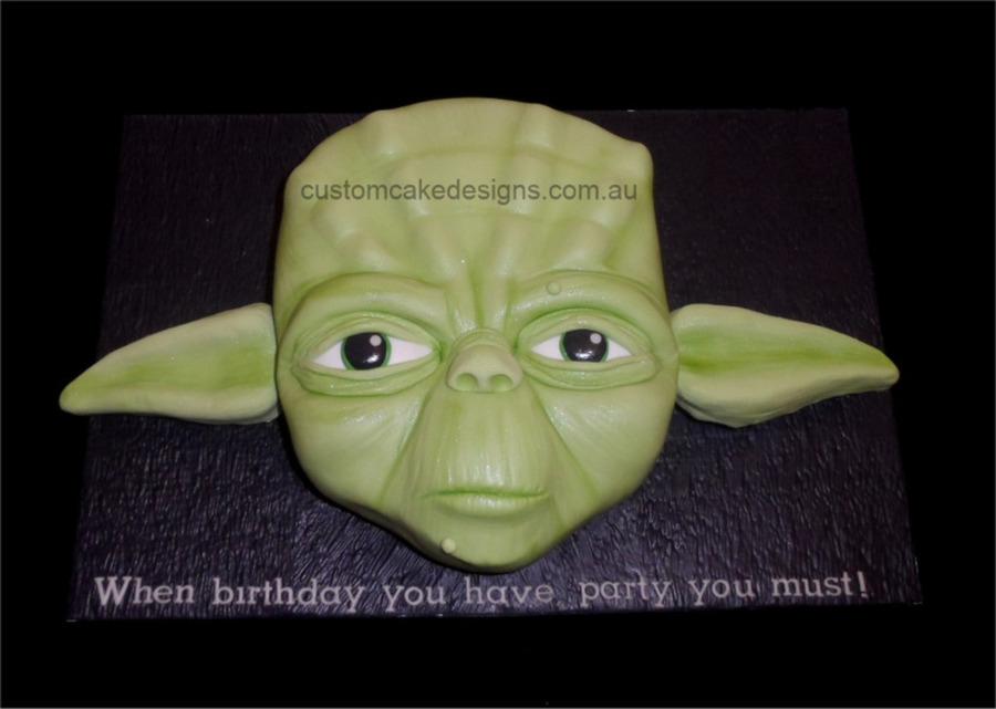Yoda Face Cake Cakecentral Com