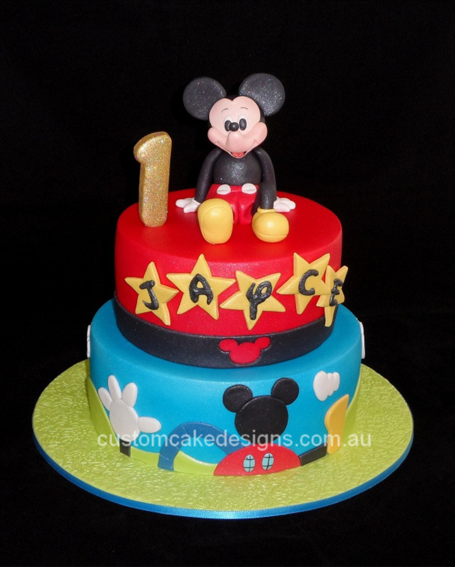 Two Tier Mickey Mouse Cake
