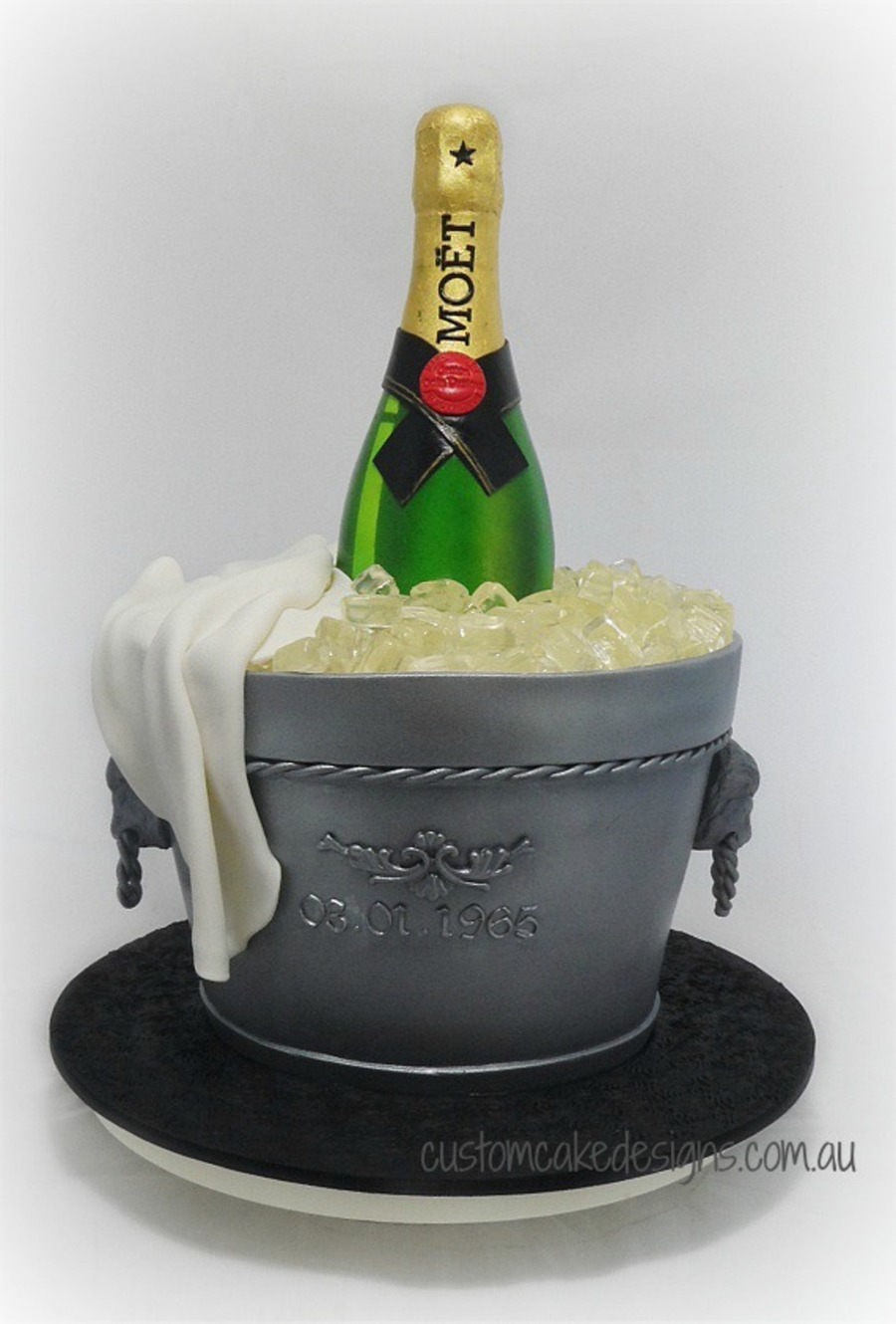 A Bottle Of Moet Champagne On Ice Cake To Cater For Approx 60 Guests The