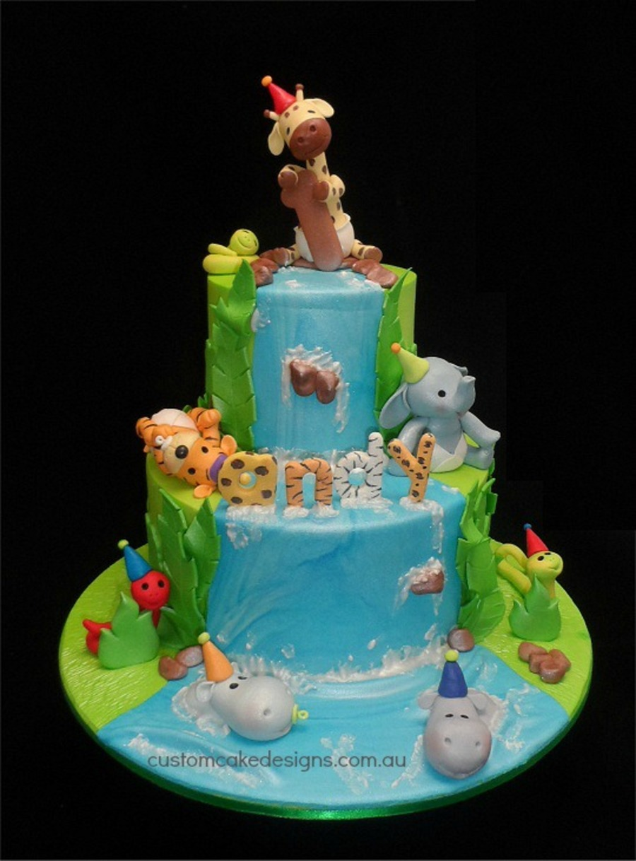 Baby Jungle 1St Birthday Cake on Cake Central