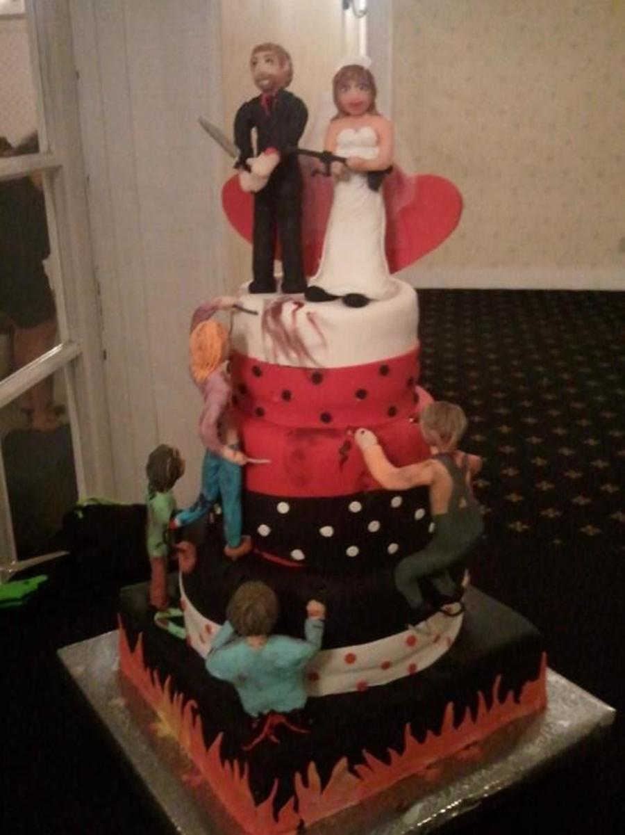 Zombie Wedding Cake CakeCentralcom - His And Hers Wedding Cake