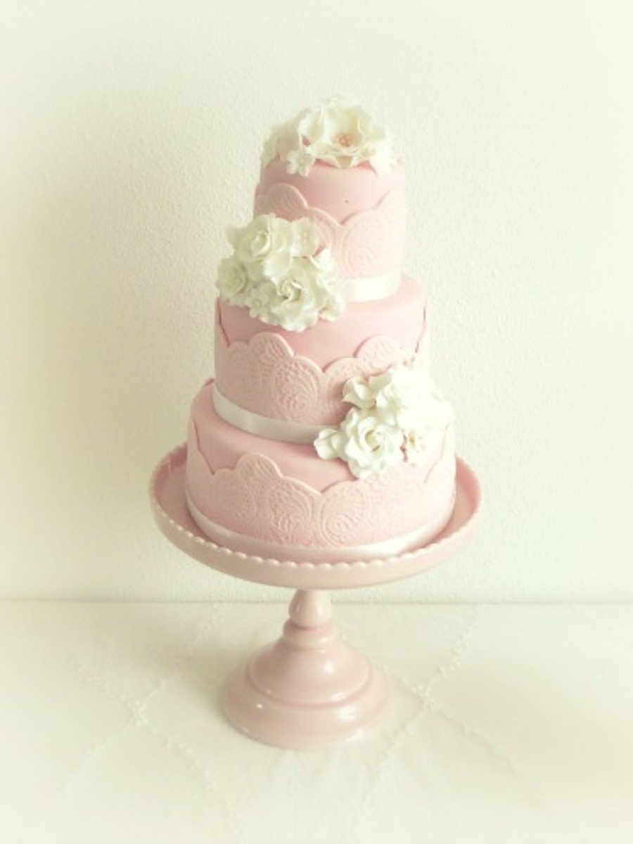 Pink Wedding Cake on Cake Central