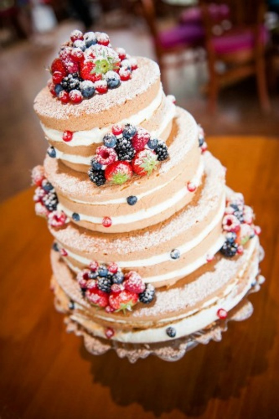 Wedding Cake With A Lot Of Fresh Fruit Cakecentral Com