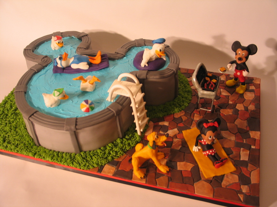 Mickey Mouse Pool Party Cake Cakecentral Com