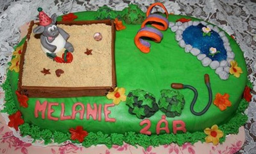 Timmy The Lamb Playground on Cake Central
