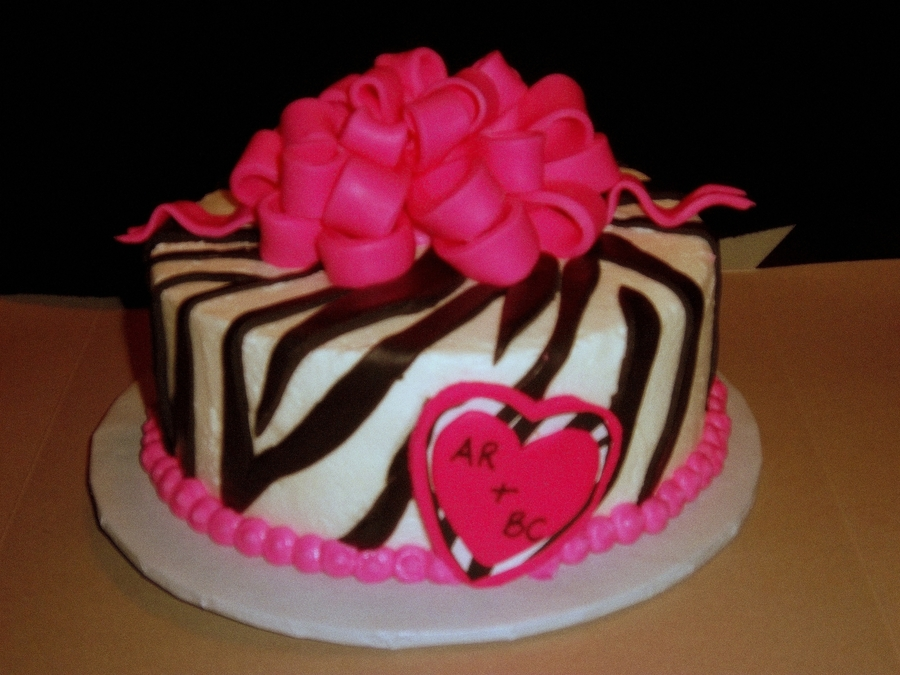 Hot Pink Zebra Bachelorette Party Cake On Central